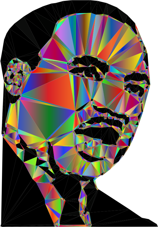 Martin Luther King Jr Low Poly Polyprismatic