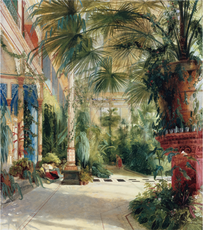 The Interior Of The Palm House Carl Blechen