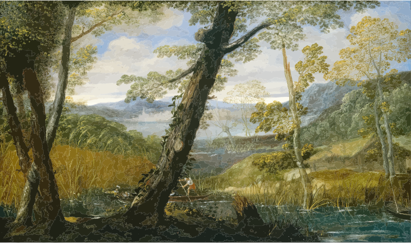 River Landscape Annibale Carracci