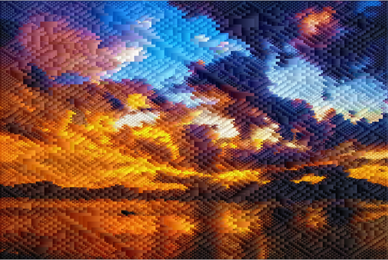 Burning Sky Geometric Design