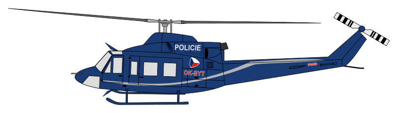 Bell 412 helicopter of the Czech police
