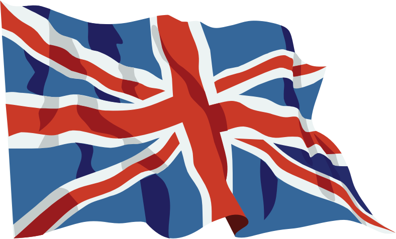 United Kingdom Flag In The Wind