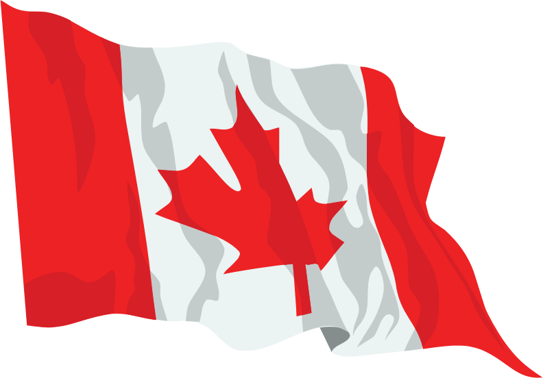 Canada Flag In The Wind