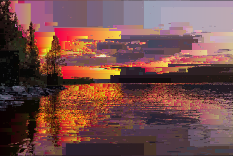 Surreal Rectangular Sunset