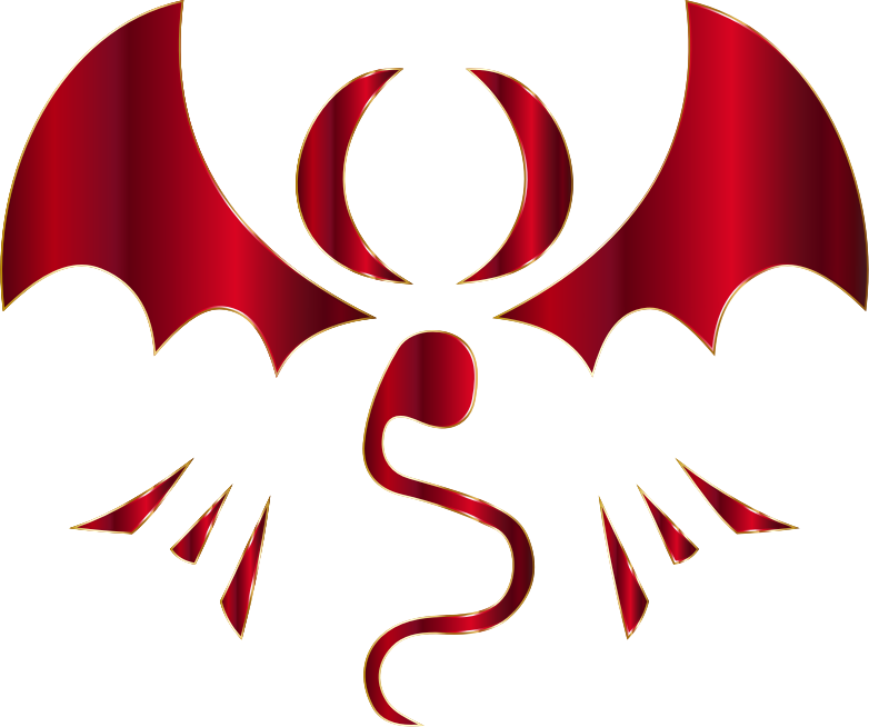 Fantasy Dragon Logo By Falco276 Crimson