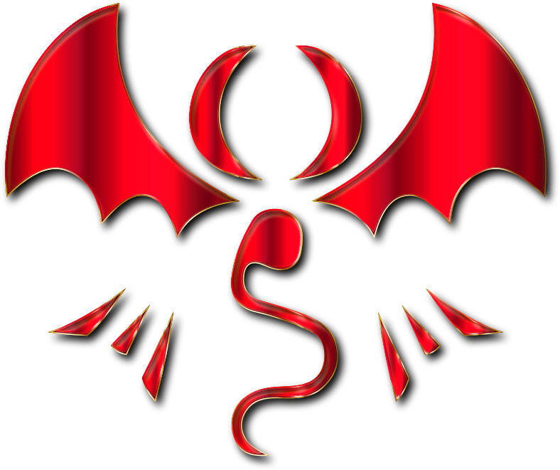 Fantasy Dragon Logo By Falco276 Crimson Enhanced