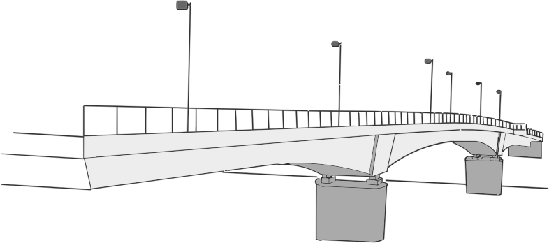 Bridge Line Art
