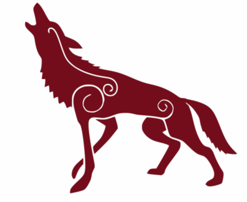 Howling Red Wolf