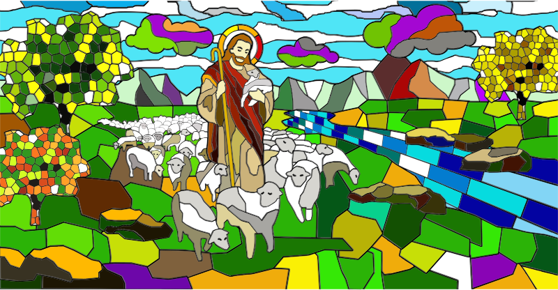 Jesus And His Flock By phk4412