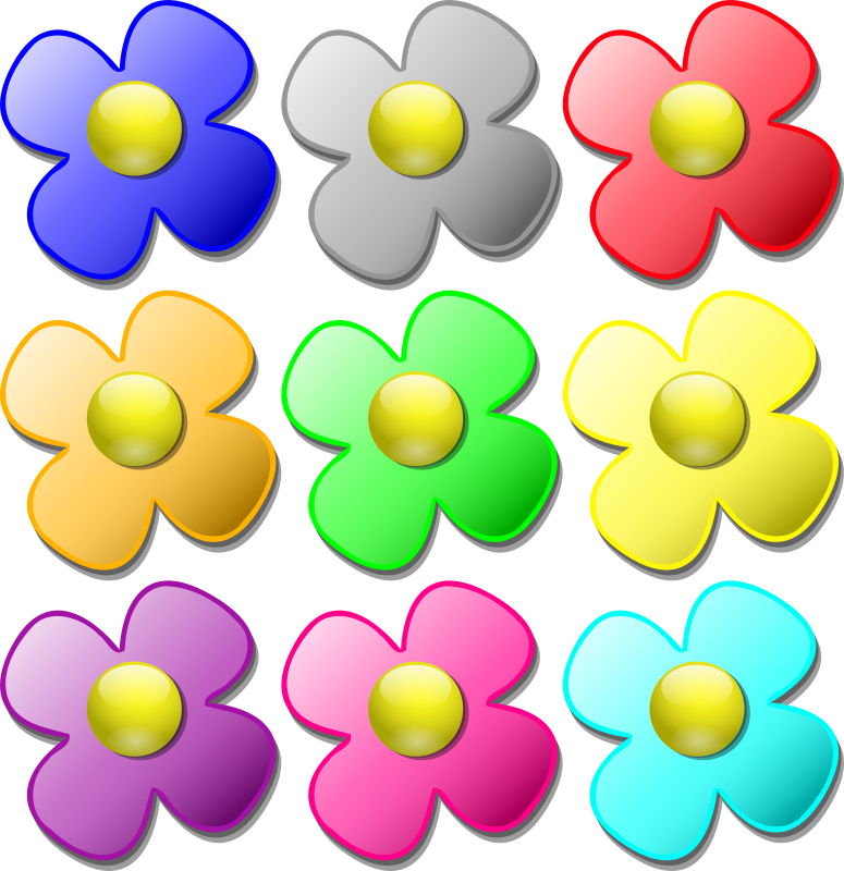 Game marbles - flowers