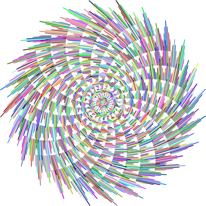 Art Deco Pinwheel Prismatic