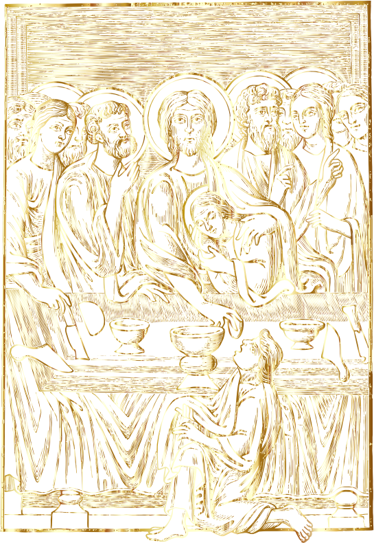 The Lord's Supper Gold No BG