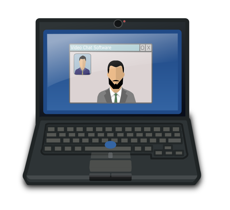 Video Chat Laptop