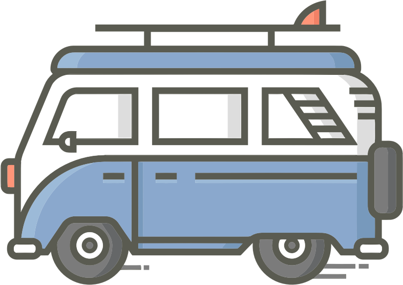Retro Van Icon By Pettycon