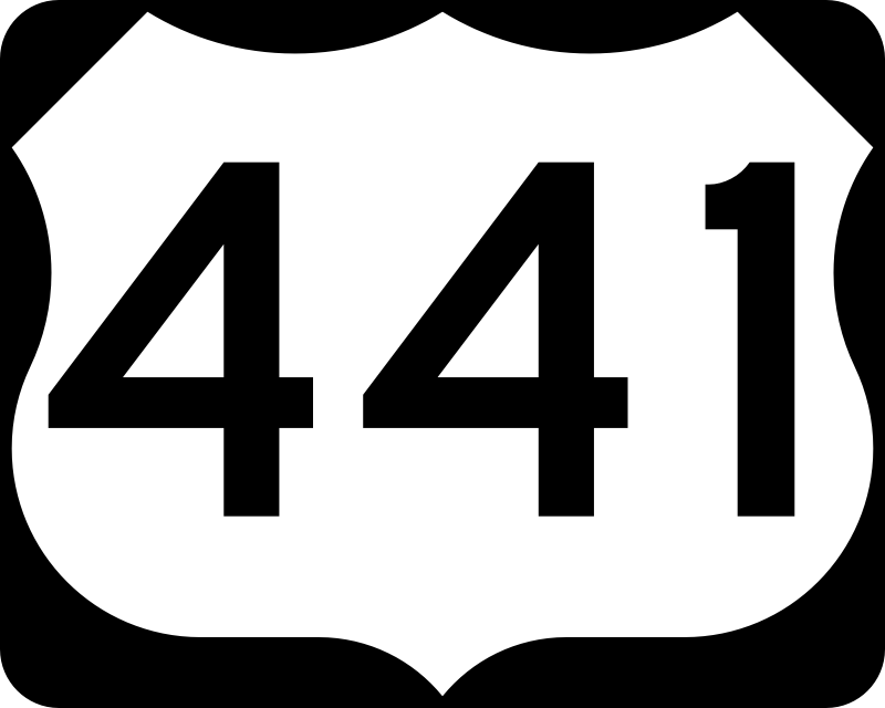 U.S. Highway 441 Shield (MUTCD #M1-4, Public Domain)