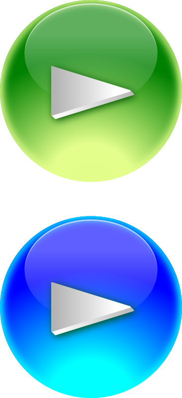 Blue and Green Play Button