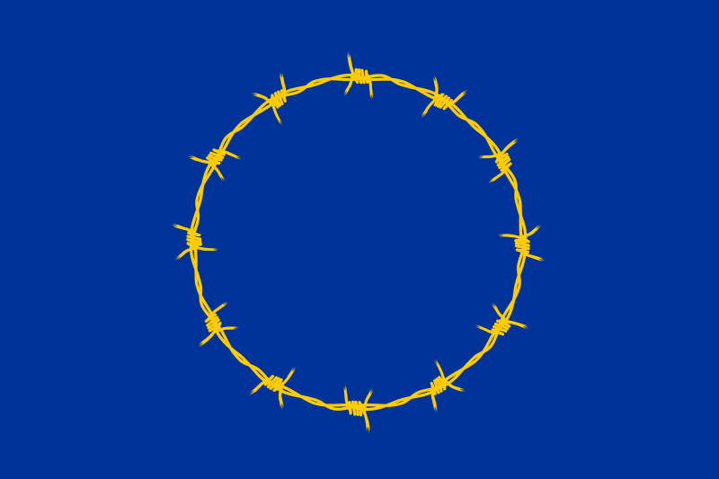 Flag of Fortress Europe, Eurpean Union EU