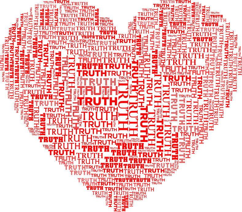 Truth Heart Red