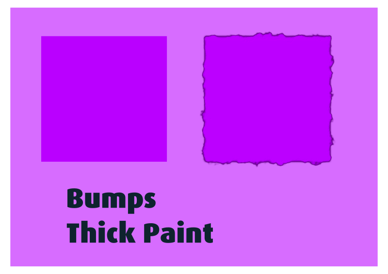 Bumps Thick Paint