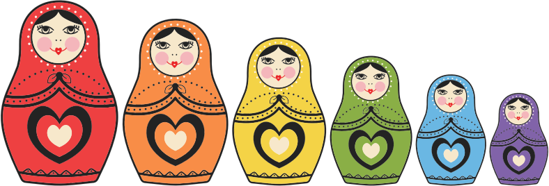 Matryoshka Dolls By Maria Alberto