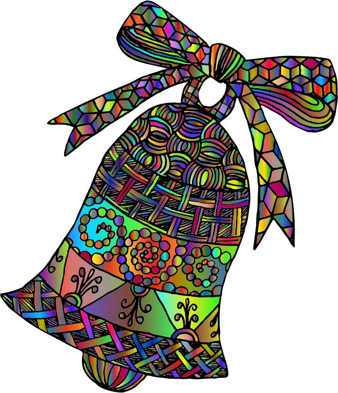 Patterned Bell Line Art By ArtsyBee Polyprismatic