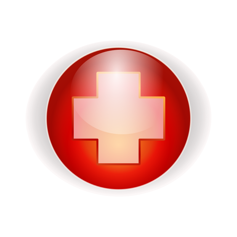 red cross button