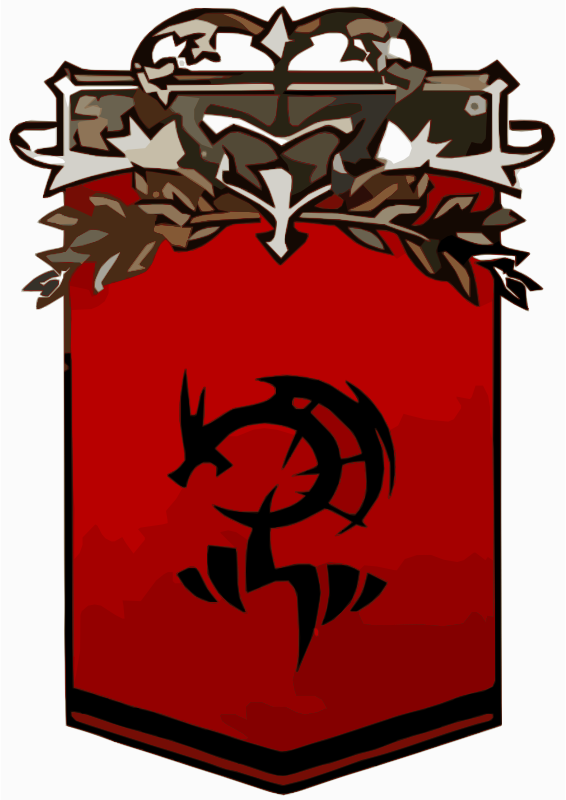 Black and Red Dragon Crest