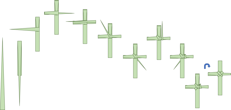 Folding a Palm Cross