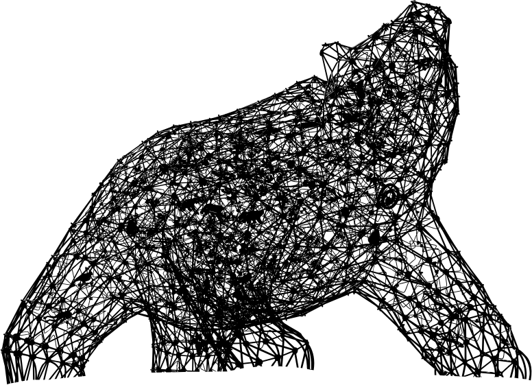 Geometric Bear Sculpture Silhouette