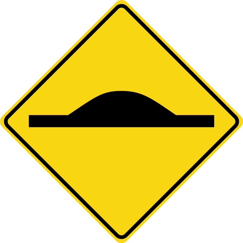 Speed bump (road sign)