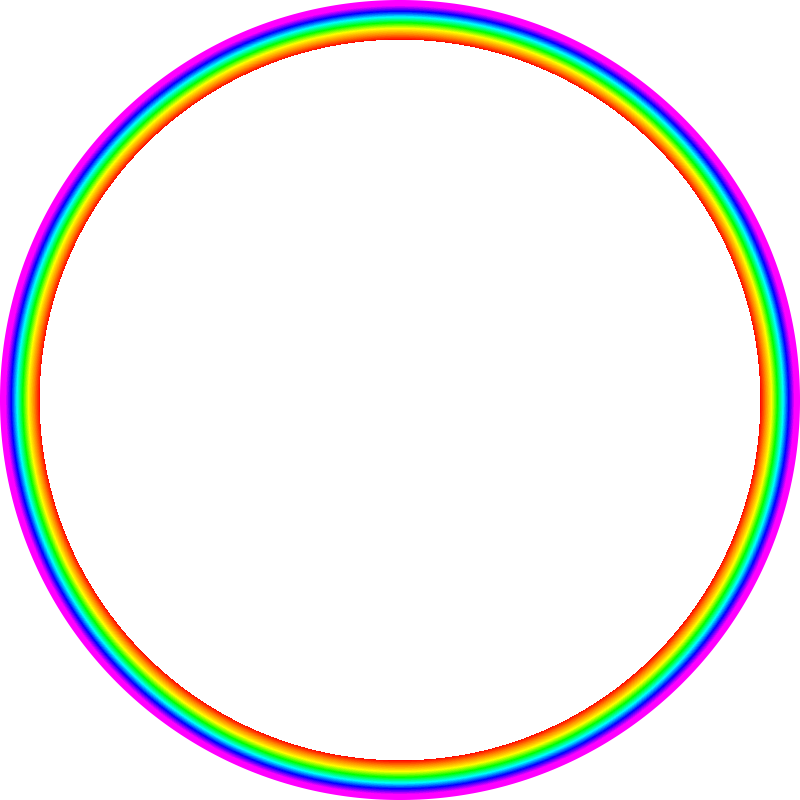 Radial rainbow gradient