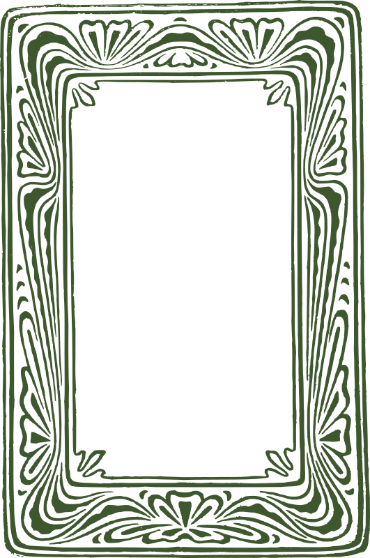 Green Rough Curly Frame