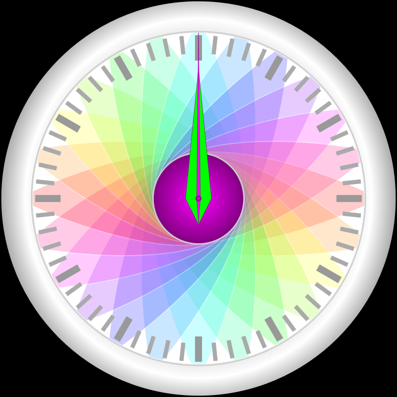 Yet another animated clock
