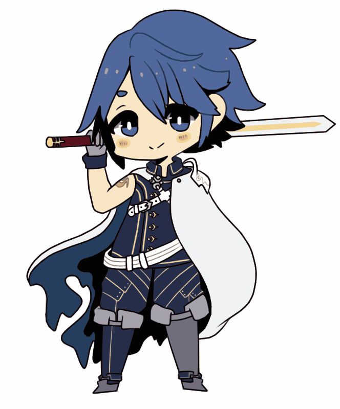 Cartoon boy with Sword