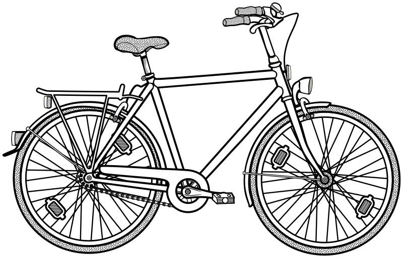 bicycle - lineart