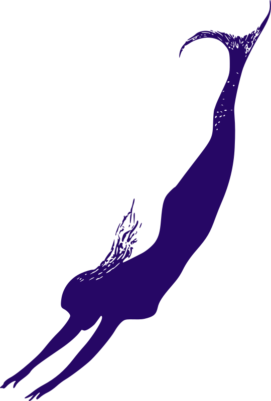 Purple Mermaid - Outline