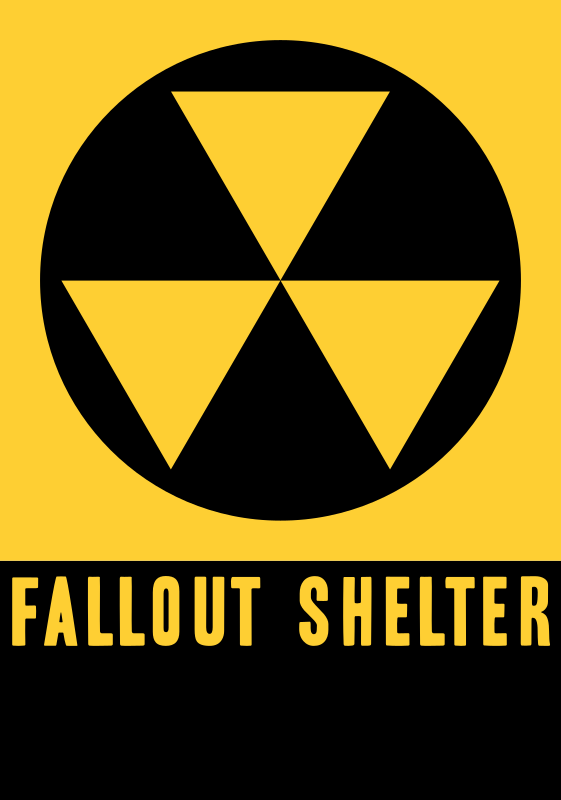 United States fallout shelter sign
