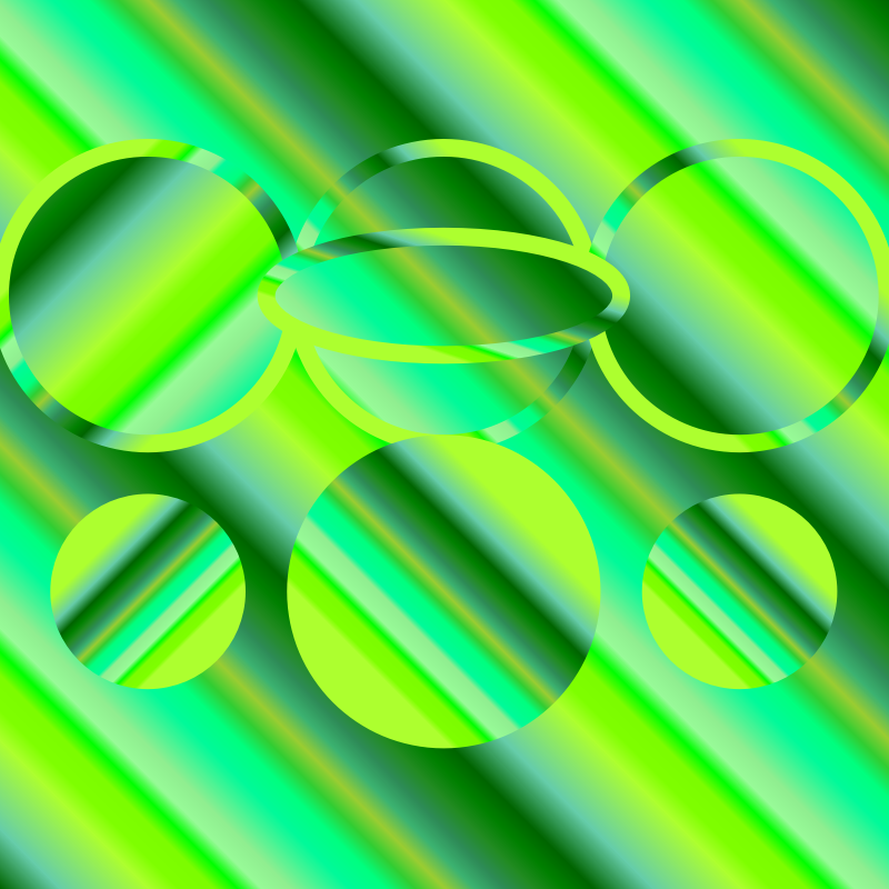 Green gradients