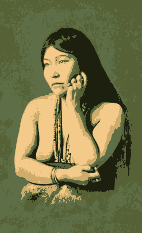Thoughtful Native Woman