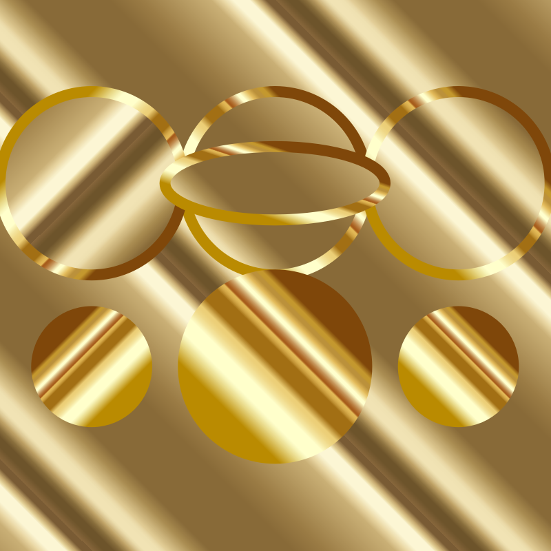 Cool gold gradients