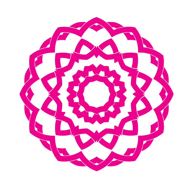 Celtic knot pink color