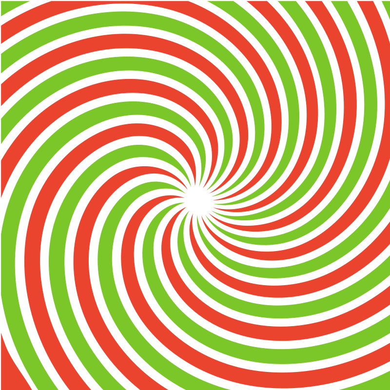 Radial beams in red and green