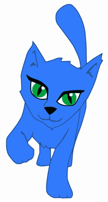 Blue Cartoon Cat