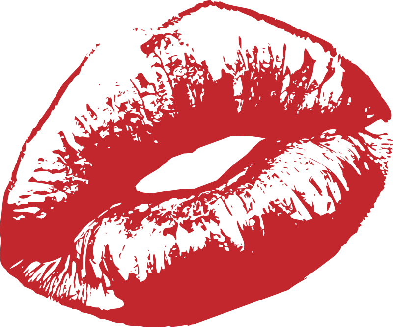 Red Lips of Woman
