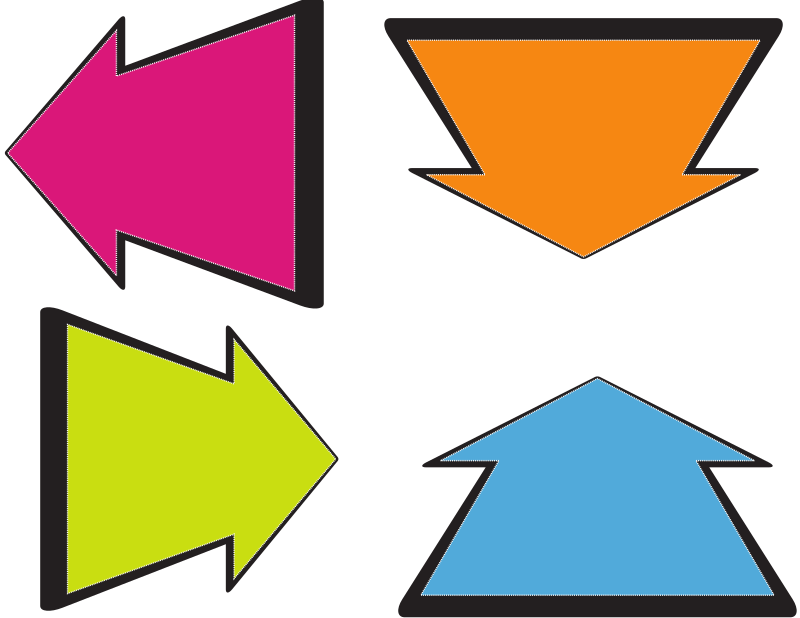 Arrows in various colours