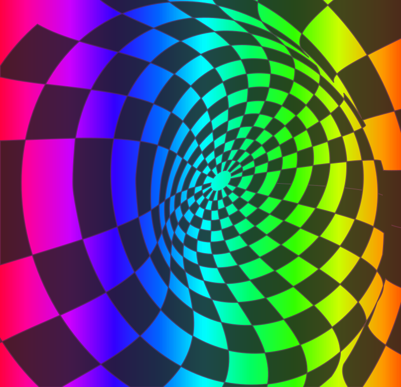 Checkered Rainbow Swirl