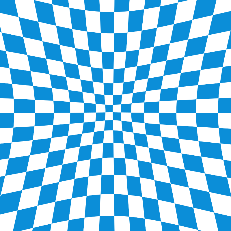 Blue checkered pattern illusion