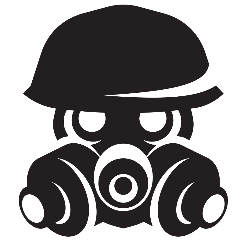 Gas mask silhouette clip art