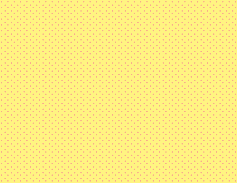 Yellow background polka dots