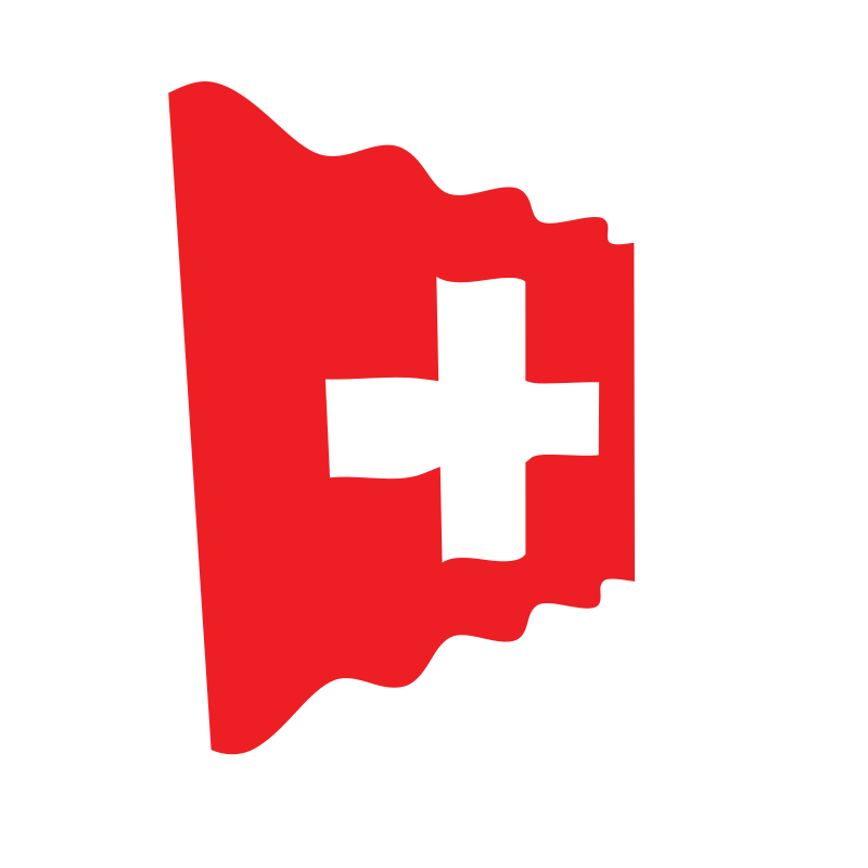 Waving flag of Switzerland